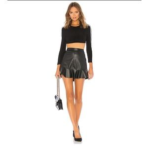 BB Dakota Veni Vidi Vici Black Vegan Leather Skirt
